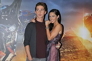 Megan Fox and Shia Labeouf promoting Transform...