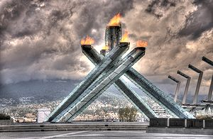 The Olympic Cauldron as shot through the origi...