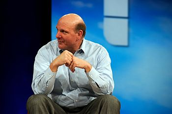 English: Steve Ballmer at MIX in 2008. Françai...
