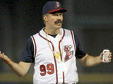 Will Ferrell pitches at a Minor League game