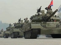 North Korea's Military parade in Slow Motion