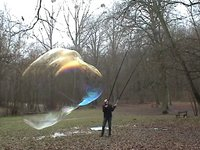 Giant Bubbles in a French park