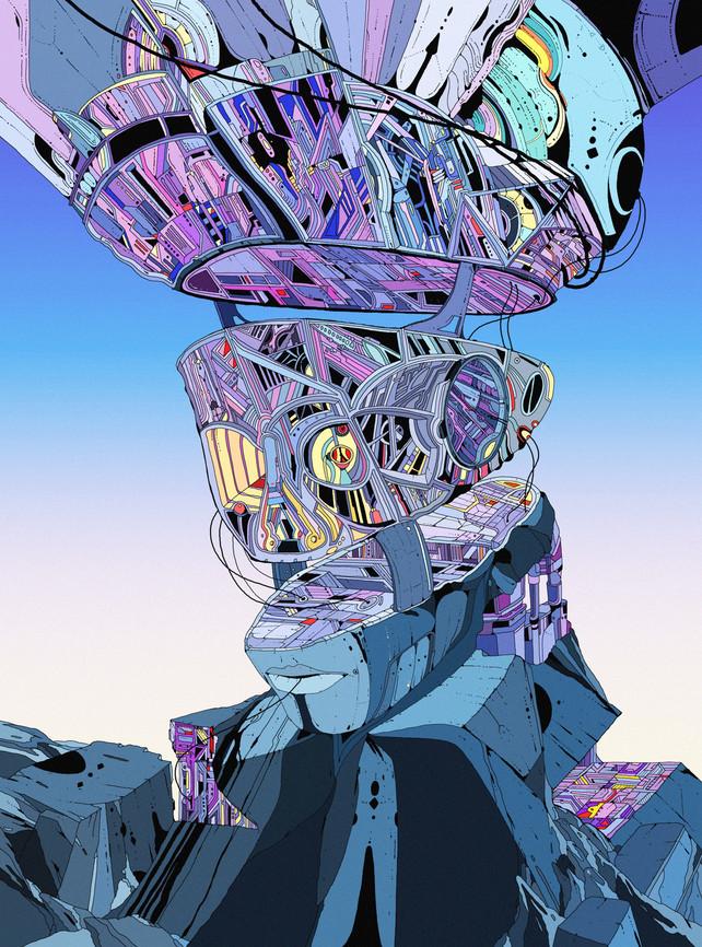 Object 5 - Futuristic Sci-Fi Artwork by Kilian Eng