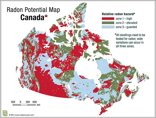 Radon Environmental Unveils Radon Potential Map of Canada