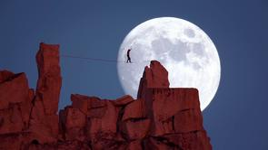 A real life Moonwalk (over Cathedral Peak)