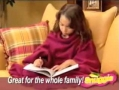 Snuggie Blanket with Sleeves Commercial